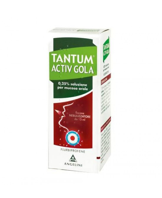 Angelini Tantum Activ Gola Nebulizzatore Per Mal Di Gola Spray 15ml - Farmastar.it