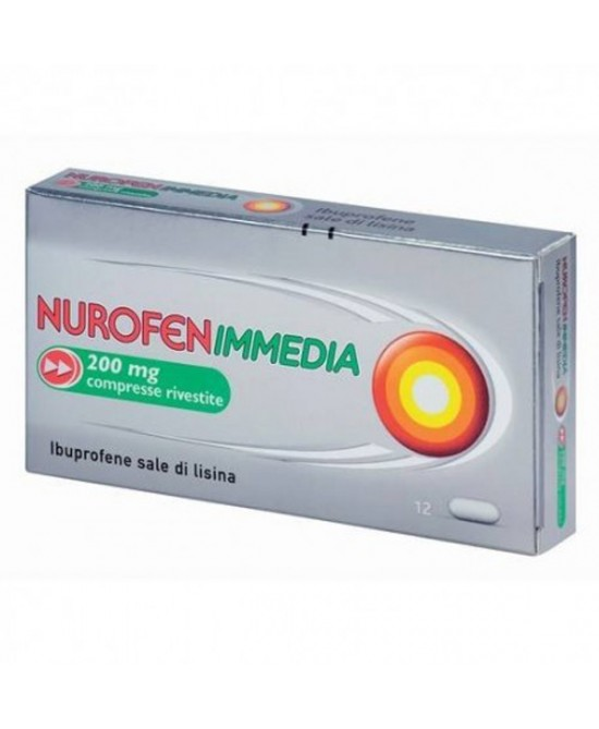 NurofenIMMEDIA  Ibuprofene 200mg  12 Compresse Rivestite - La tua farmacia online