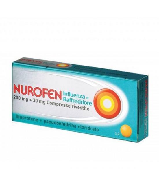 Nurofen 200mg + 30mg Influenza E Raffreddore 12 Compresse - Farmastar.it