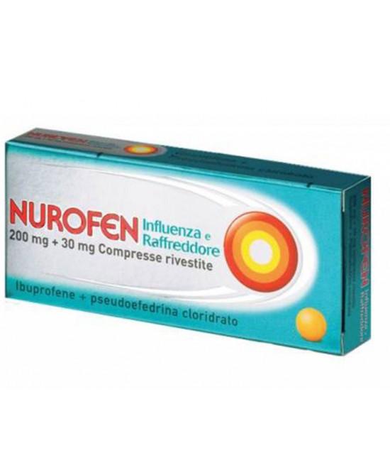 Nurofen 200mg + 30mg  Influenza E Raffreddore 24 Compresse - Farmacia 33