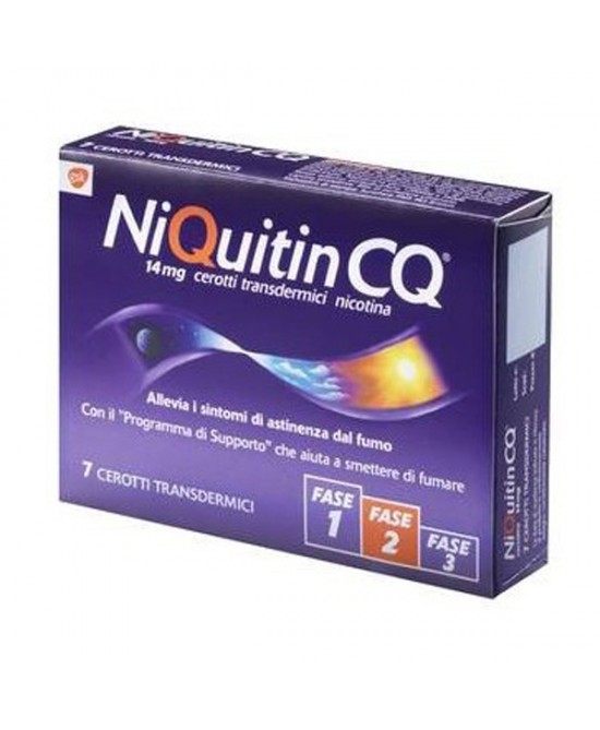 NiQuitin CQ 14mg/24h  7 Cerotti Transdermici - Farmastar.it