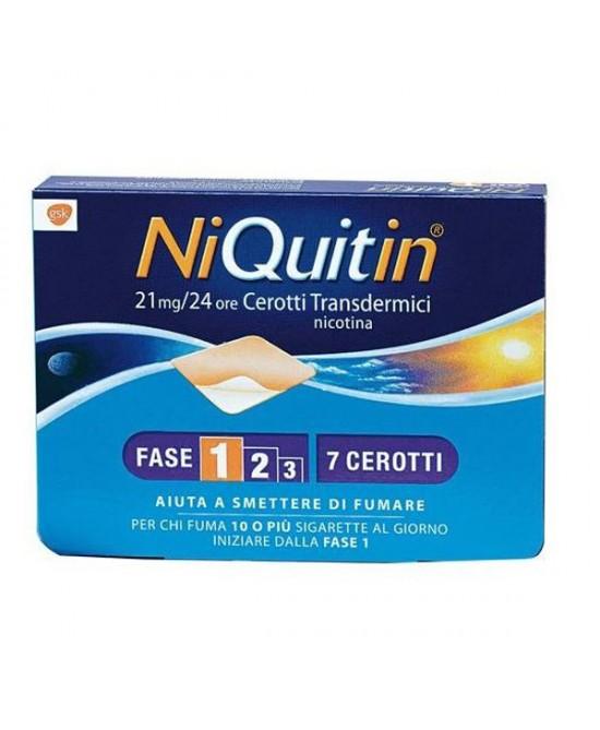 NiQuitin CQ 21mg/24h 7 Cerotti Transdermici - latuafarmaciaonline.it