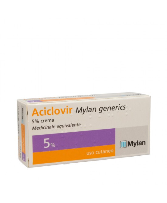 Aciclovir Mylan 5% (generico Zovirax labiale) Crema 3g - Farmajoy
