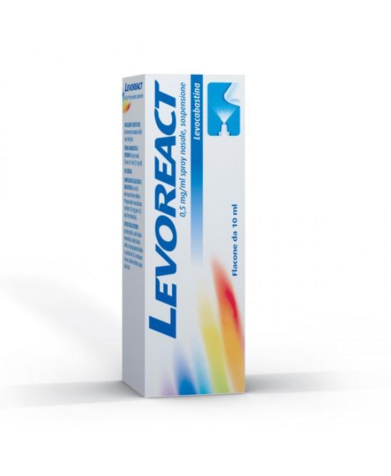 Levoreact 0,5 mg Spray Nasale Trattamento Sintomatiche Riniti Allergiche Flacone 10 ml - Farmalilla