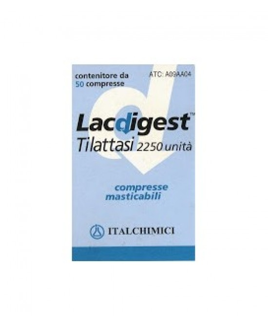 Lacdigest 2.250 U 50 Compresse Masticabili - Farmastar.it