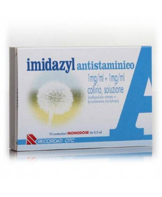Recordati Imidazyl Antistaminico Collirio 10 Flaconcini Monodose Da 0,5ml - Farmastar.it