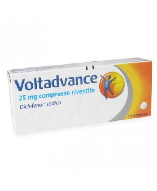 Novartis Voltadvance 10 Compresse Rivestite 25mg - Spacefarma.it