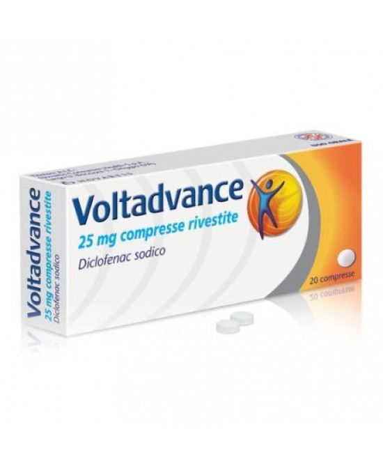 Novartis Voltadvance 20 Compresse Rivestite Da 25mg - Farmastar.it