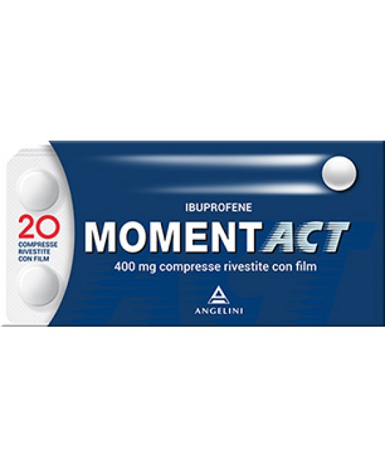 MomentACT 400mg Ibuprofene 20 Compresse Rivestite - Farmastar.it