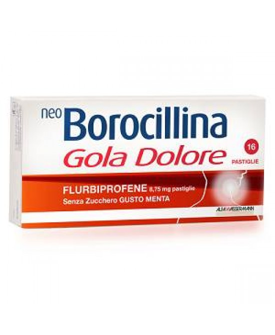 NeoBorocilina Gola DoloreFlurbiprofene 8.75mg 16 Pastiglie Senza Zucchero - Farmastar.it