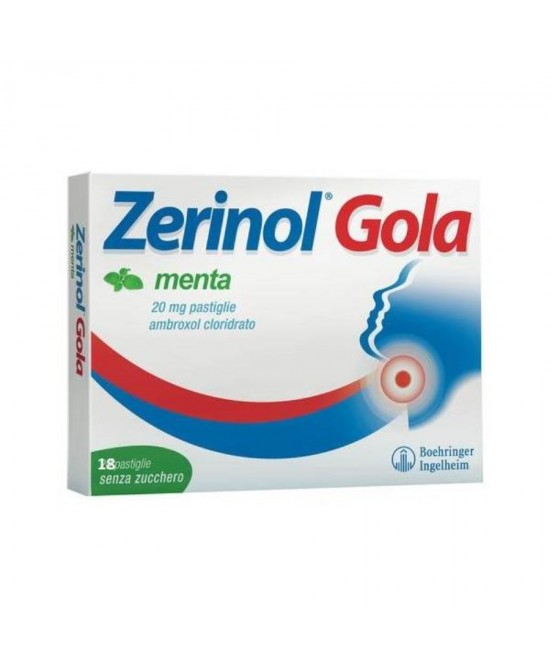 Zerinol Gola20mg Menta 18 Pastiglie - Farmaci.me