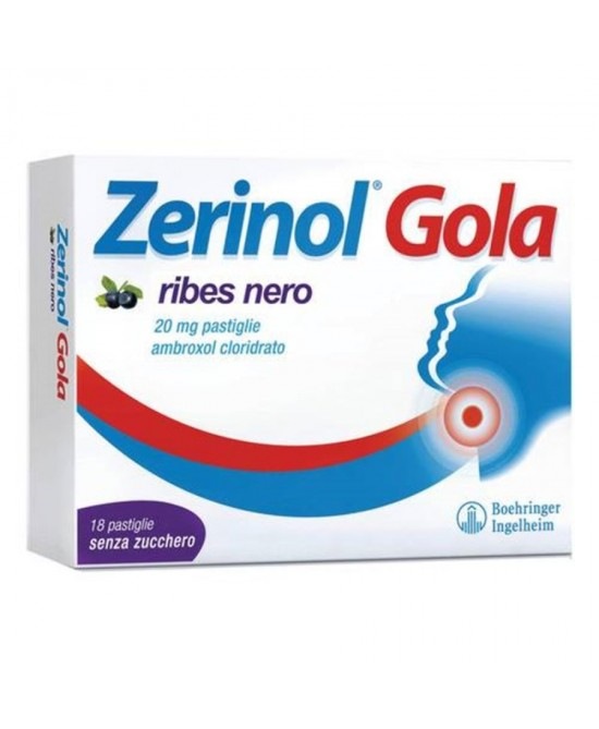 Zerinol Gola 20mg Ribes Nero 18 Pastiglie - Farmastar.it
