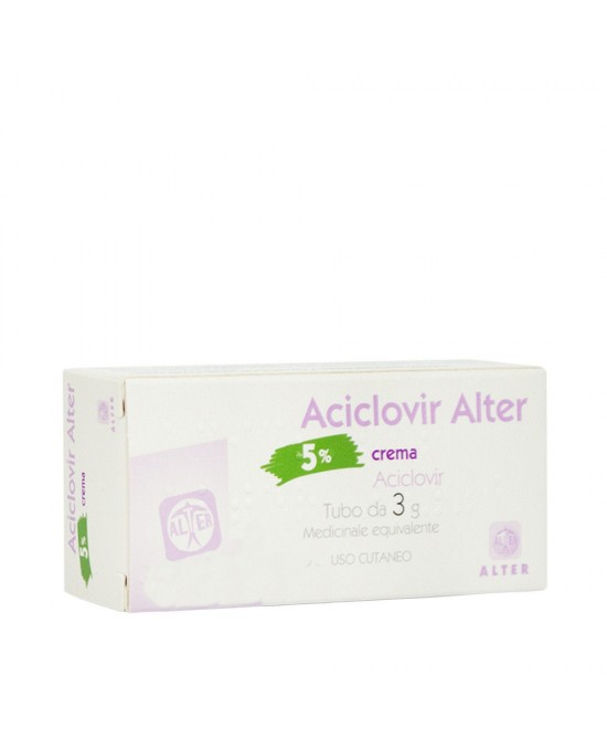 ACICLOVIR ALTER*CREMA 3G 5% - Spacefarma.it