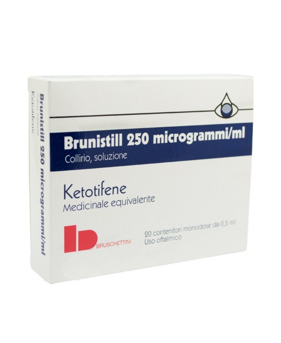 Brunistill Collirio Ketotifene 0,5ml 0,025mg 20 Monodose - Farmafamily.it