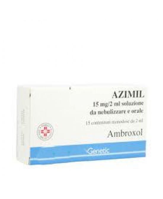 Azimil Soluzione da nebulizzare 15mg/2ml Ambroxolo Tosse 15 Flaconcini