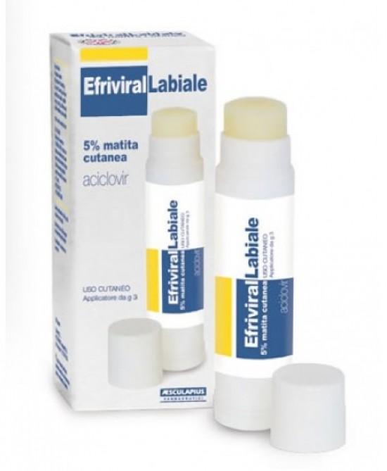 Efrivirallabiale Matita Cutanea 5% Aciclovir Herpes 3g offerta