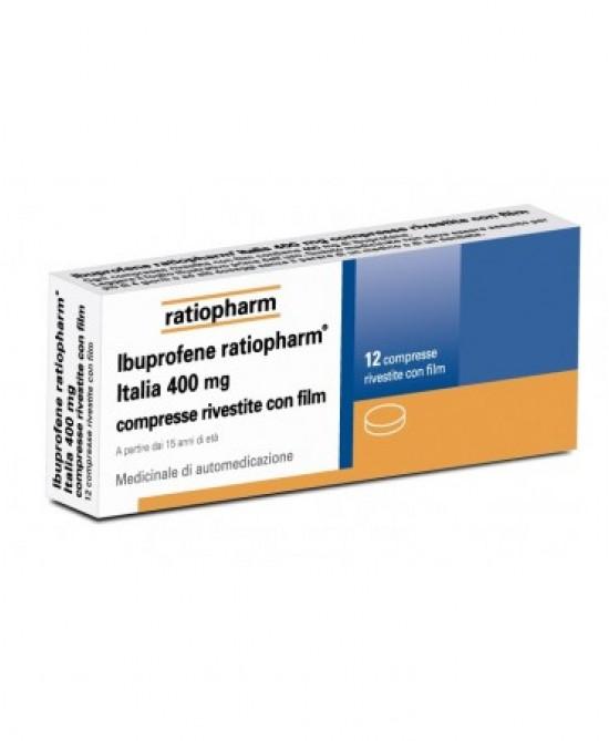 Ibuprofene Ratiopharm Italia 400mg 6 Compresse Rivestite