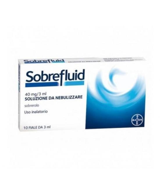 Bayer Sobrefluid 40mg/3ml Soluzione Da Nebulizzare Fluidificante Per Tosse E Catarro 10 Fiale - Farmastar.it