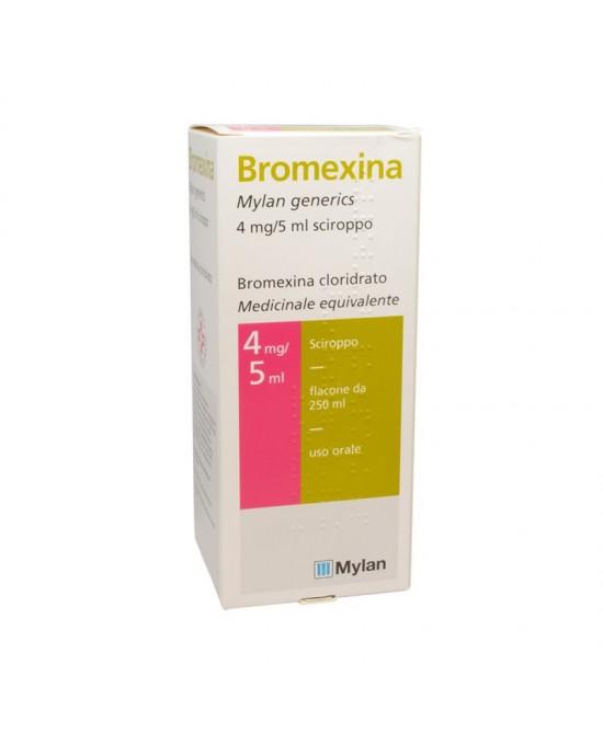 Bromexina Mylan 4mg/5ml Sciroppo 250ml - Farmaci.me