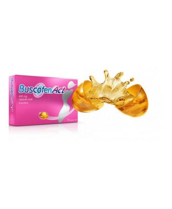 Buscofenact 400 mg Ibuprofene Antidolorifico 12 Capsule Molli - Farmalilla