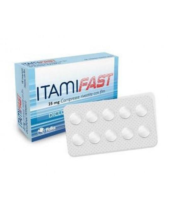 Fidia Itamifast 25mg Antinfiammatorio Ed Antidolorifico 10 Compresse Rivestite - Farmacia 33