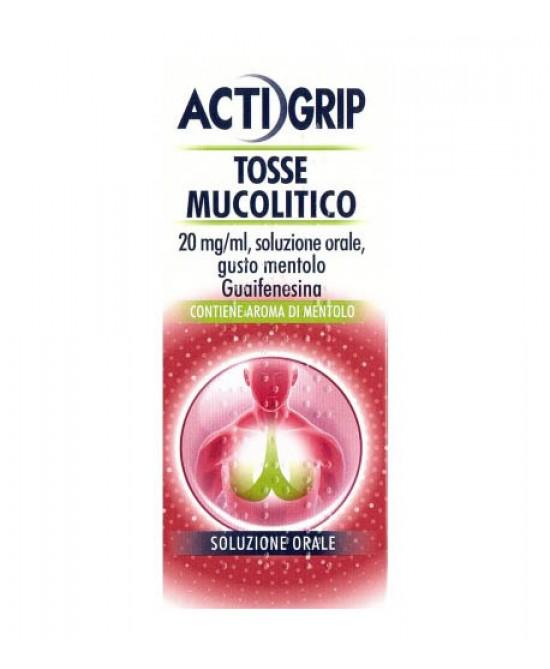 Actigrip Tosse Mucolitico Guaifenesina Flacone 150 ml offerta