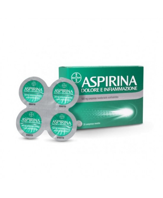 Aspirina Dolore E Infiammazione  500mg 20 Compresse Rivestite - Farmafamily.it