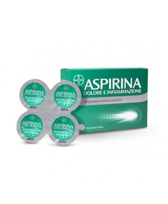 Aspirina Dolore e Infiammazione 500 mg 20 Compresse Rivestite - Farmalilla
