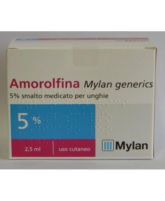 Amorolfina Mylan 5% Smalto Medicato Per Unghie 2,5ml - Farmia.it