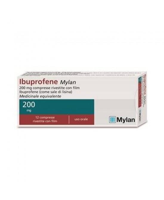 Ibuprofene Mylan 12 Compresse Rivestite 200mg - Zfarmacia