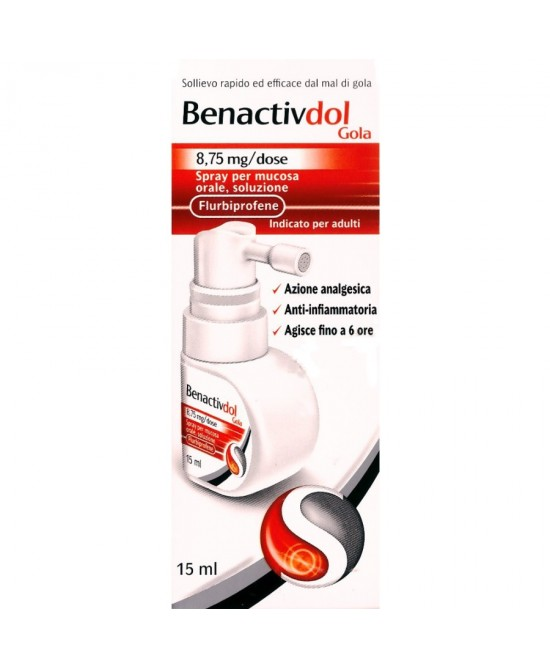Benactivdol Gola Flurbiprofene 8,75mg Spray Mucosa Orale 15ml - Farmastar.it