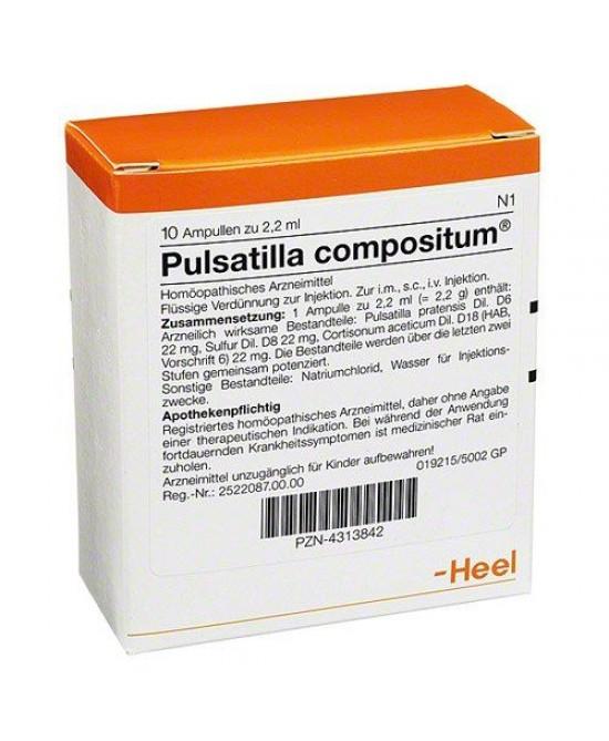 HEEL PULSATILLA COMPOSITUM 10 FIALE DA 2,2 ML L'UNA - Farmagolden.it