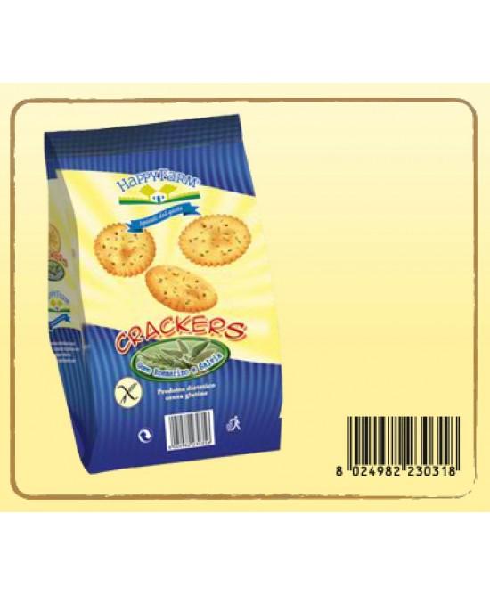 Happy Farm Crackers Rosmarino E Salvia Senza Glutine 60g - Farmabros.it