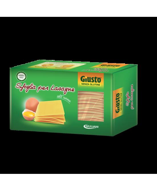 Giusto Sfoglie Per Lasagne All'Uovo Senza Glutine 250g - Parafarmacia la Fattoria della Salute S.n.c. di Delfini Dott.ssa Giulia e Marra Dott.ssa Michela