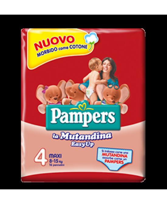 Pampers Easy Up Maxi Misura 4 (8-15 Kg ) 16 Pannolini Mutandina - Farmapage.it