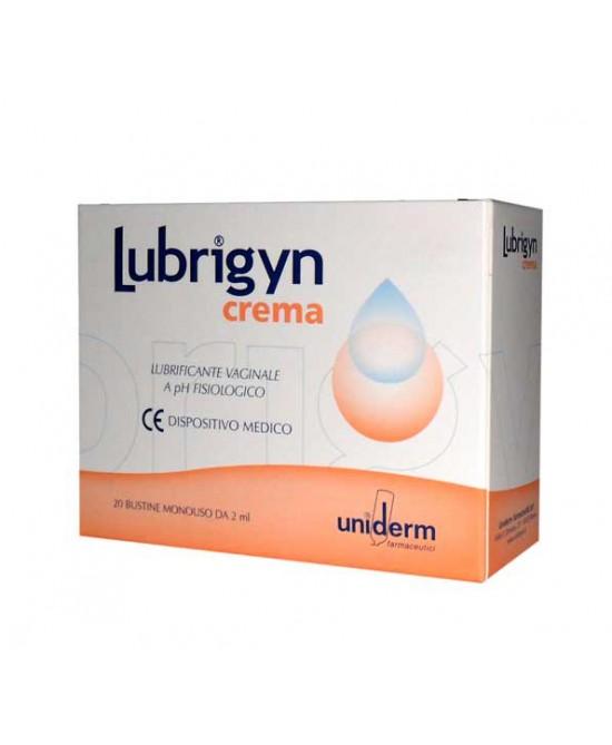 Uniderm Lubrigyn Crema Lubrificante Vaginale A Ph Fisiologico 20 Bustine Monodose - Farmabros.it