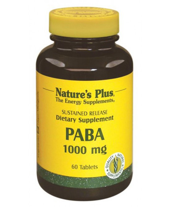 Nature's Plus Paba 1000 Mg Integratore Alimentare 60 Tavolette - farmaciadeglispeziali.it