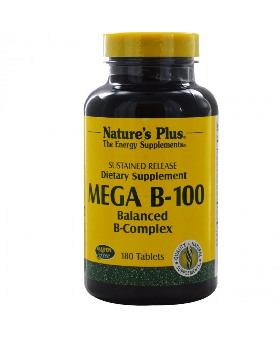 Nature's Plus Mega B100 Integratore Alimentare 60 Tavolette - farmaciadeglispeziali.it