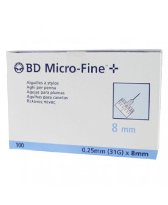 Bd Micro-Fine Aghi Per Penna G31 Dimensioni 8mm 100 Pezzi - Farmabros.it