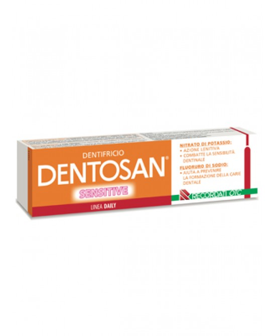Dentosan Sensitive Dentifricio Per Denti Sensibili 75ml - Farmia.it