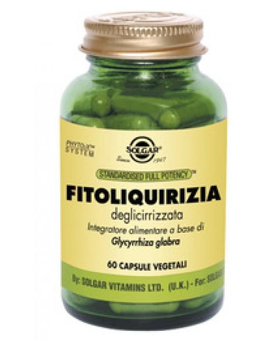 Solgar Fitoliquirizia Deglicirizzata 60 Capsule Vegetali - Antica Farmacia Del Lago