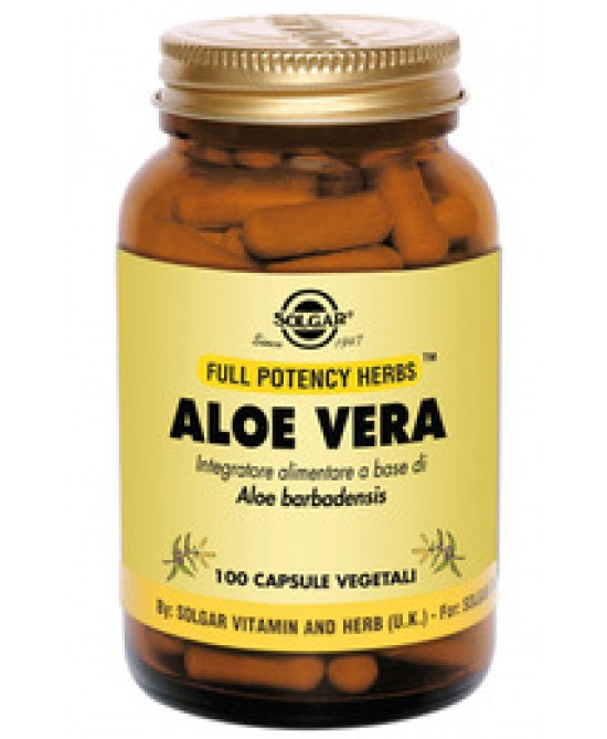 Solgar Aloe Vera 100 Capsule Vegetali - Farmafamily.it