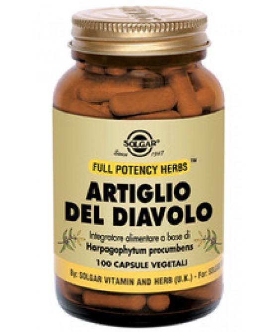Solgar Artiglio Del Diavolo 100 Capsule Vegetali - Farmaconvenienza.it
