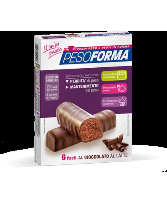 Pesoforma Barrette Al Cioccolato Al Latte 6 Pasti 12 Pezzi - FARMAPRIME