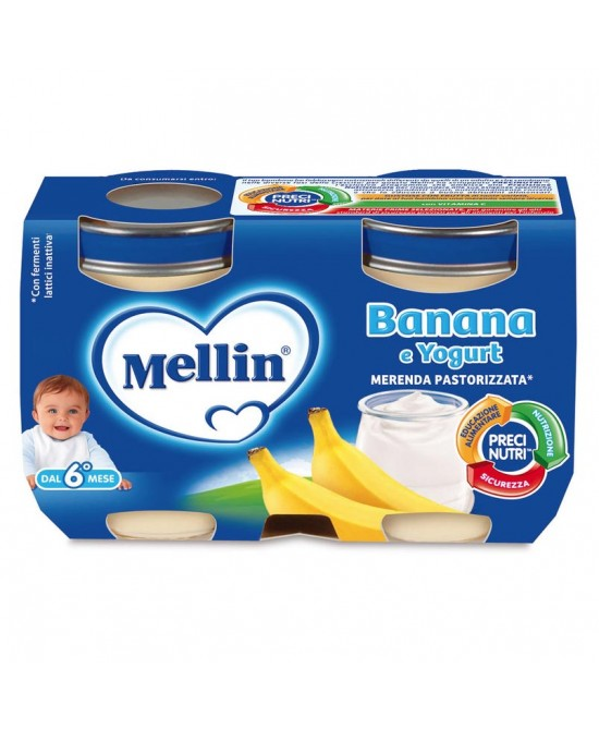 Mellin Merenda Yogurt E Banana 2x120g - Farmabros.it