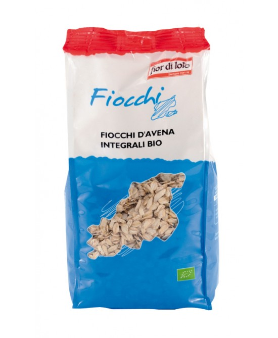 Fior Di Loto Fiocchi D'Avena Decorticata Biologico 500g - Farmafamily.it