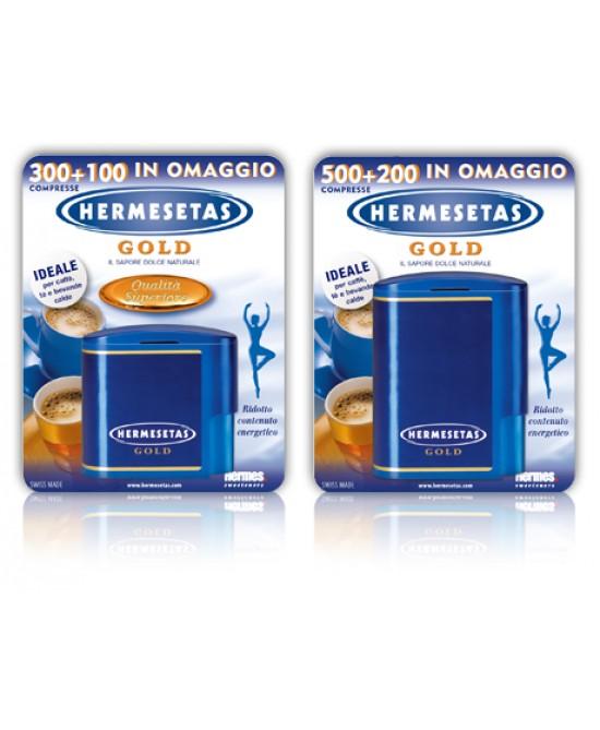 Hermesetas Gold 300 + 100 Compresse - Parafarmacia la Fattoria della Salute S.n.c. di Delfini Dott.ssa Giulia e Marra Dott.ssa Michela