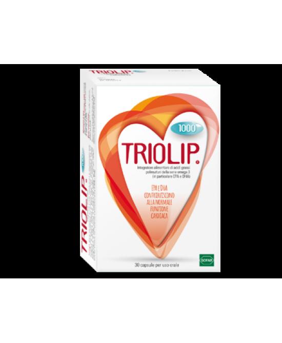 Sofar Triolip 1000 Integratore Alimentare 30 Capsule - Farmastar.it