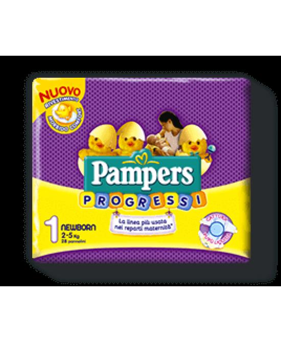 Pampers Progressi Sensitive Newborn Misura 1 (2-5 Kg) 28 Pannolini - Farmaci.me