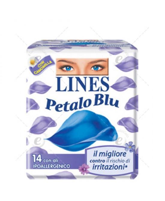 Lines Petalo Blu Con Ali Assorbenti 14 Pezzi